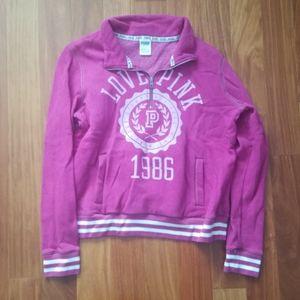 PINK quarter-zip sweatshirt